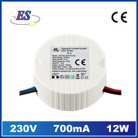 adjustable constant current 700ma LED Driver power supply with Triac Dimmer