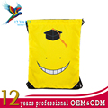 Promotional custom printed polyester nylon canvas sports pouch emoji drawstring bag