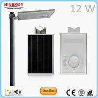 led street lights public 5W 8Wp 12Watt ip66 solar outdoor lighting