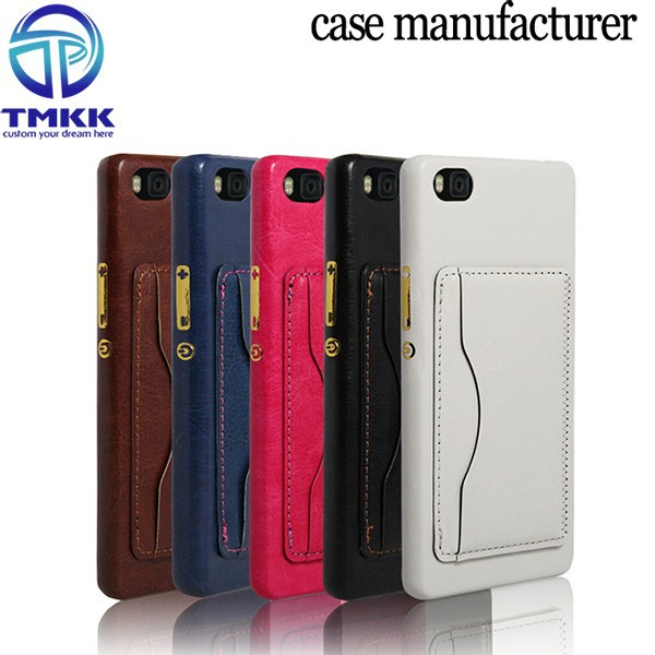 P8014 Mobile Phone Accessories for Huawei Ascend P8 PC Case , for Huawei P8 PU Leather Coating Case Luxury Cover
