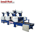 multi heads band saw machine for wood pallet process