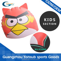 wholesale angry-bird funny silicone swim cap