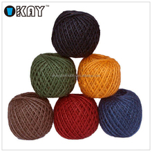 12 Colors Natural Wholesale Wholesale Colored Jute rope for sale