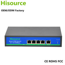 Customize 78W 4 port 10/100mbps ethernet networking switch poe switch