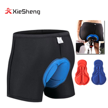 3D Silicon Gel Padded bike Underwear Shorts Breathable Lightweight Men Bicycle Underwear Pants MTB Cycling Shorts