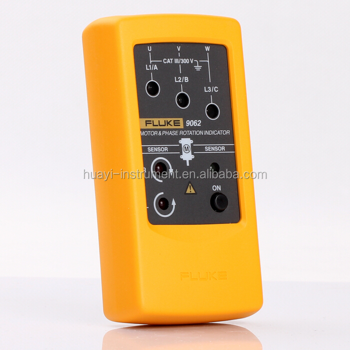 Newest Fluke 9062 Motor Phase Rotation Indicator,Fluke 9062 handheld 3 phase rotation indication tester meter