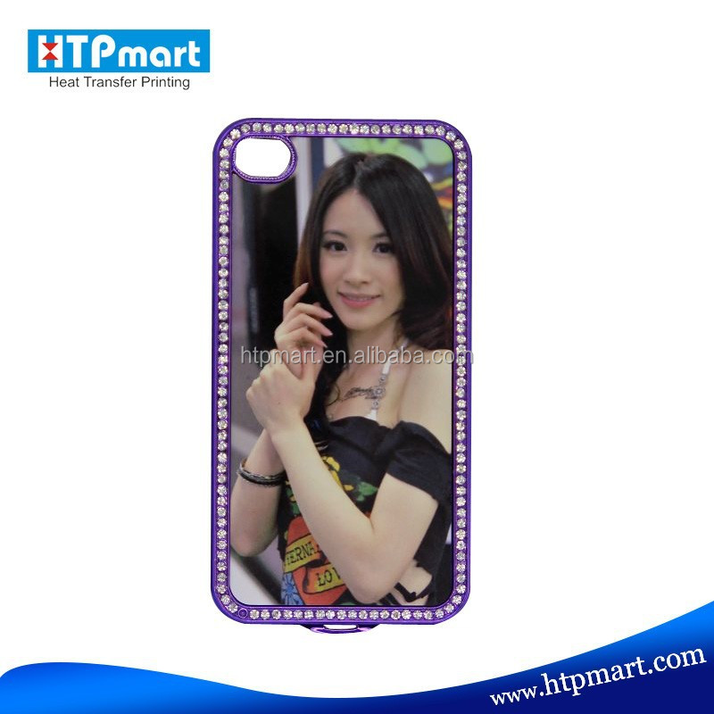 Sublimation Blank Bling Phone Case for iphone4 of good price