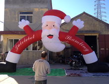 Outdoor Christmas Decorations Inflatable Santa Claus Arch