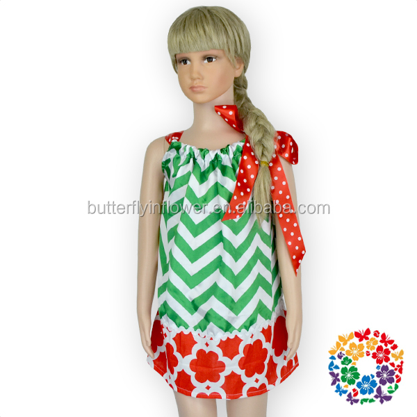 Dress baby girl christmas dress red green xmas dress girls holiday