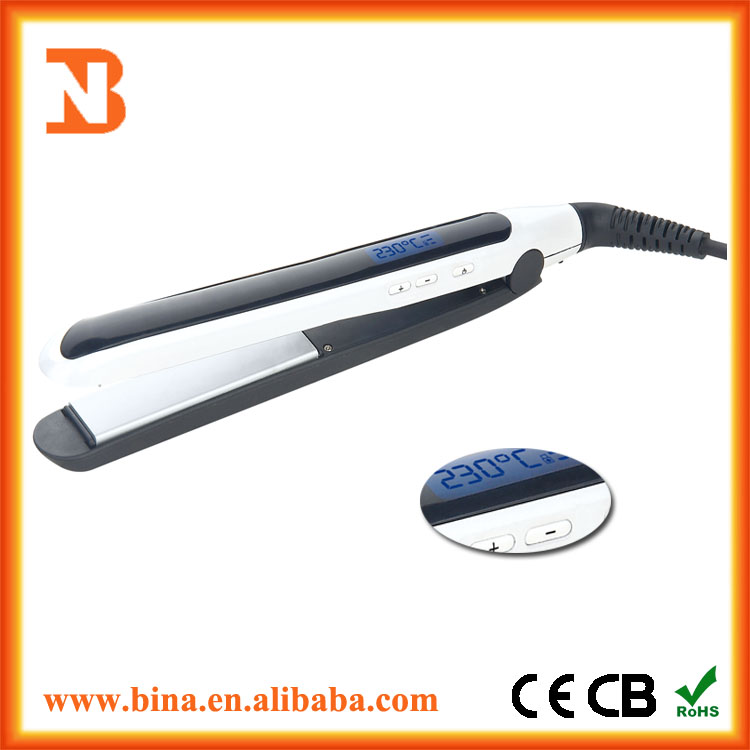 Ceramic Brazilian Flat Iron Hair Straightener With Teeth