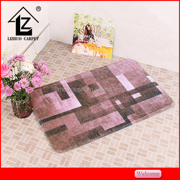 Wonderful design non woven 3d printing 17x24 bath rug