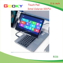 11.6 inch laptop intel Celeron 1037U with camera and WiFi play gaming laptop without brand