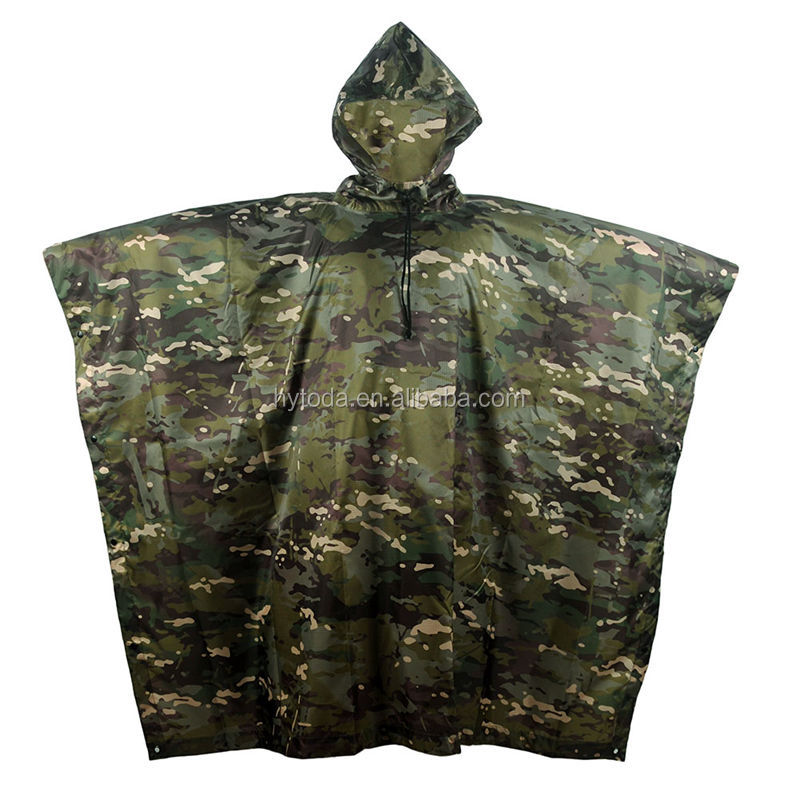 Poncho impermeable pvc raincoat military manufacturer