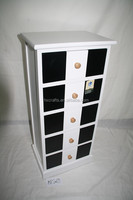 black and white chest living room wood furniture storage unit