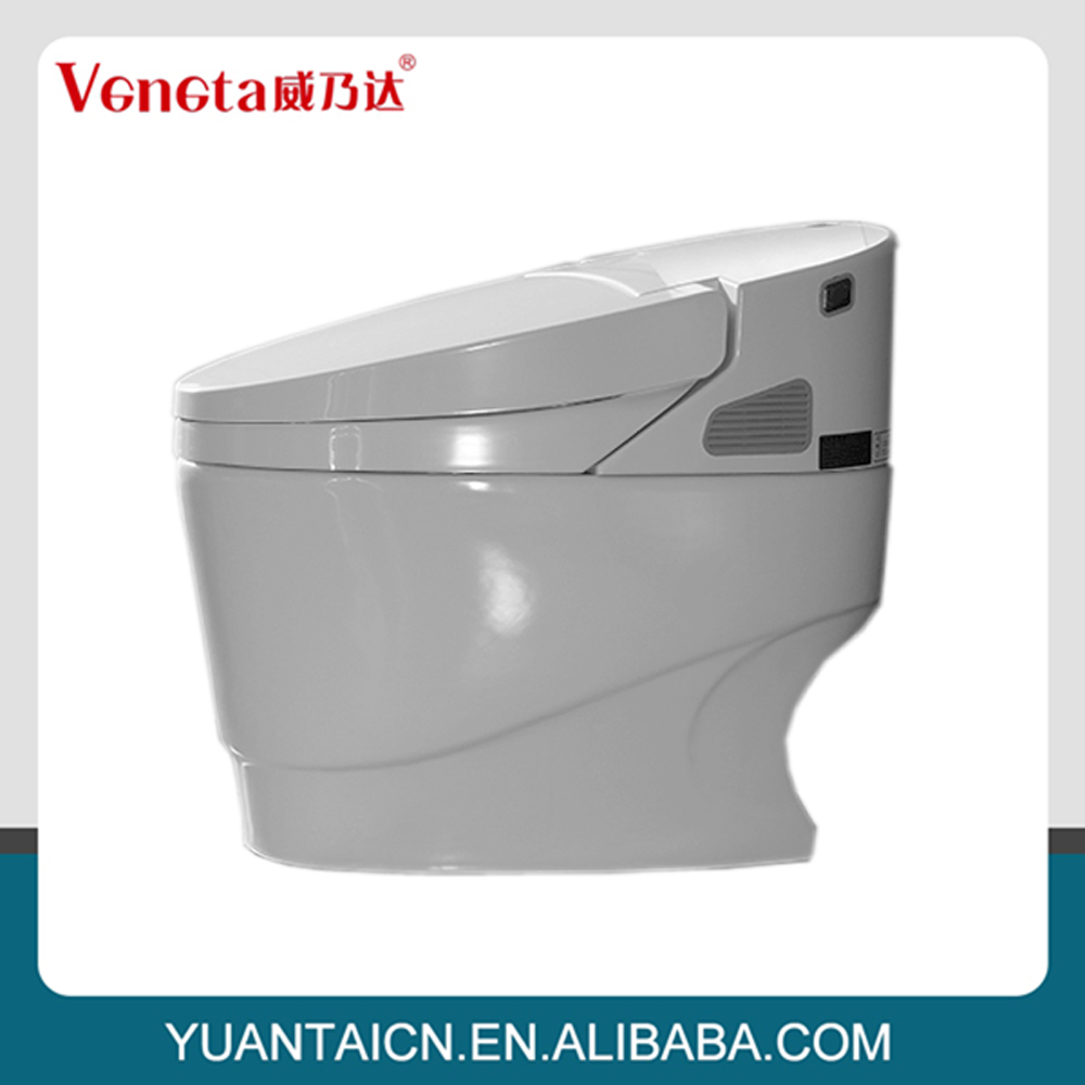 China market automatic ceramic smart toilet with built in bidet