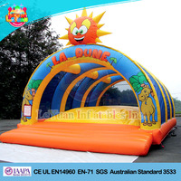 Air soft dome inflatable jumping bouncer