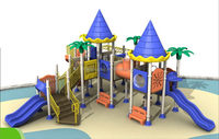 Popular/classical/curved big outdoor playground slide