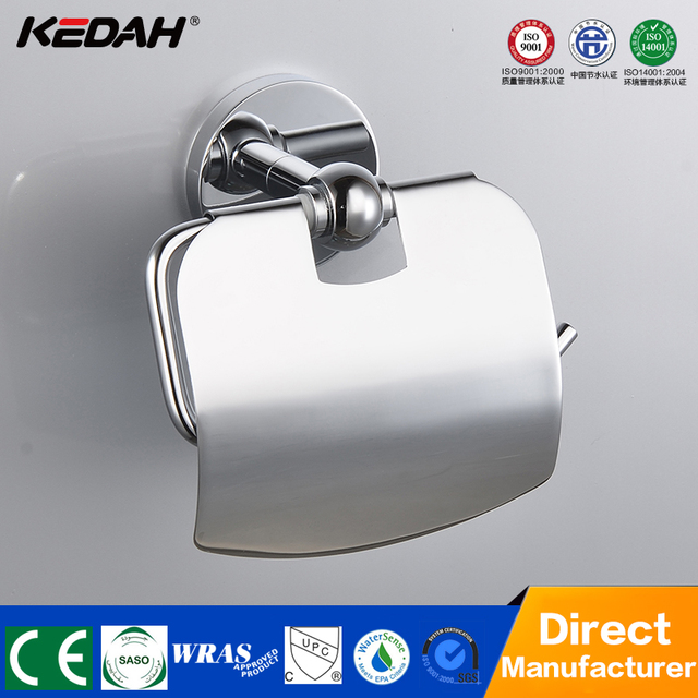 Bathroom Accessory Set Toilet Tissue Chrome Plated Paper Holder