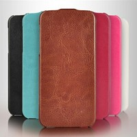 Heat pressing flip phone case for iphone5 leather stand case new product for 2014 made in China