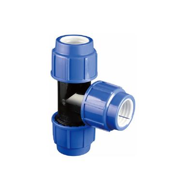 ERA Factory PP Compression Fittings Straight Tee for Irrigation