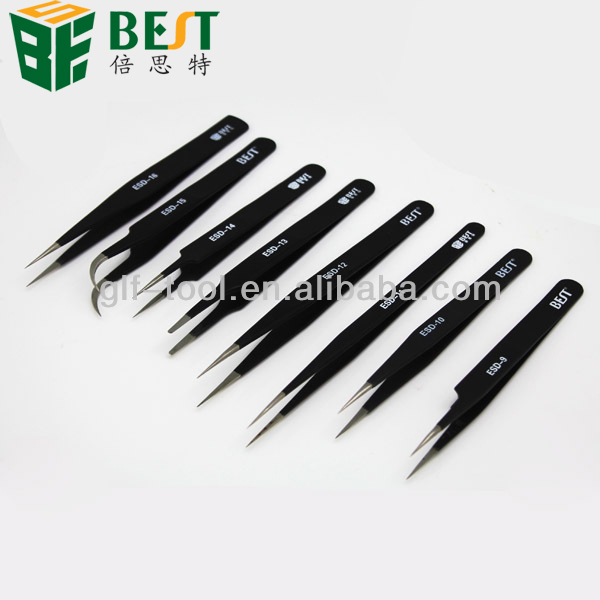 curved straight slanted point angled precise tweezers for mobile phone/lap top/computer repair