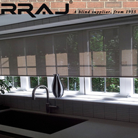RRAJ Window Sun Blocker Rolling Solar Window Treatments Shades
