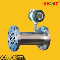KHLWQ Digital Gasoline 4-20mA Flow Meter with indicator