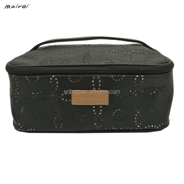 New lady fashion promotion custom wholesale toiletry pu cosmetic pouch bag pu makeup case