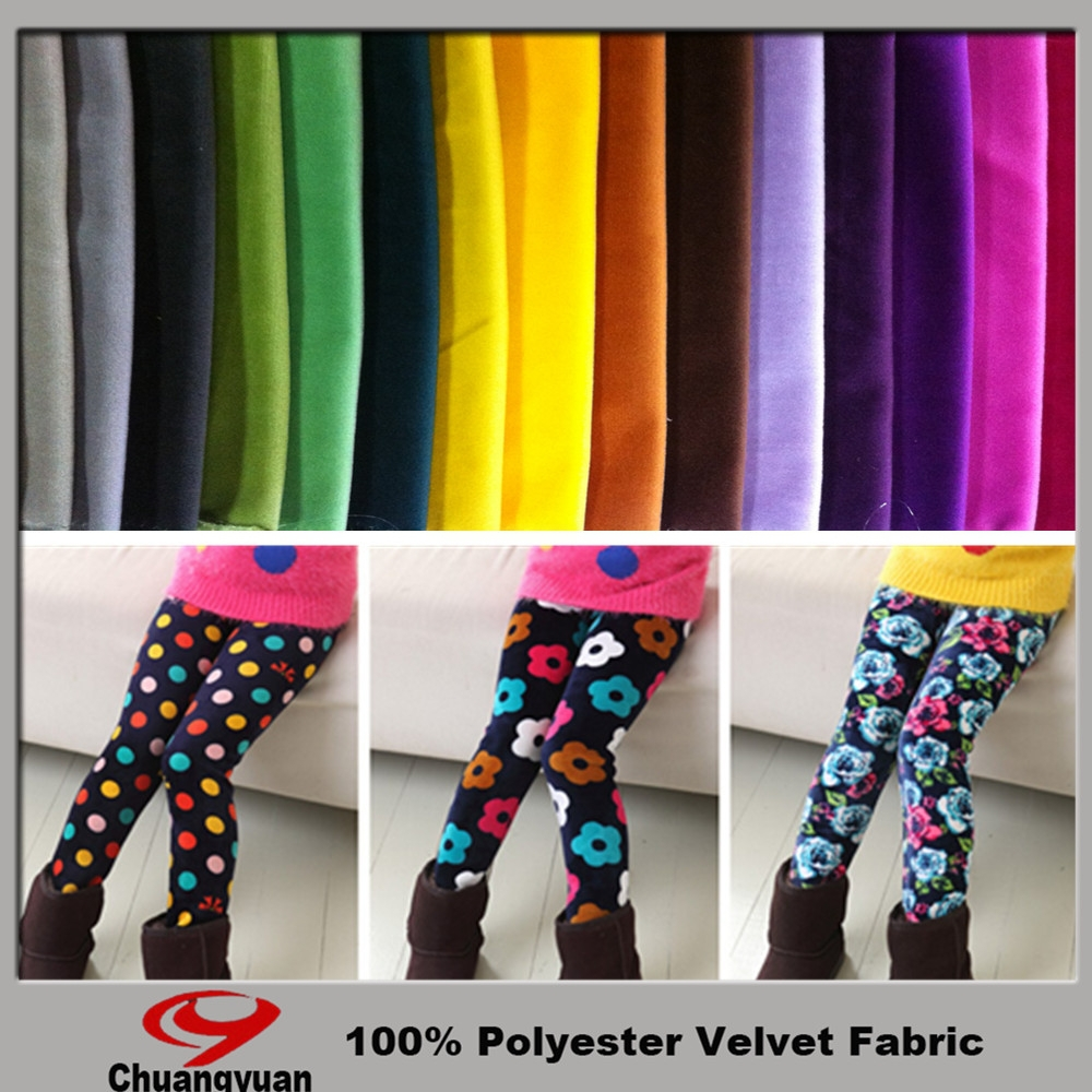 Hot sell textile fabric design super soft velvet for children's pants from Chinese factory