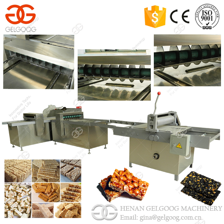 Stainless Steel Cereal Bar Line Granola Oat Crisp Sesame Peanut Candy Machine For Sale