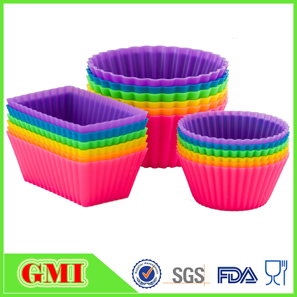 BPA free silicone muffin cupcake baking pan set dishwasher safe bakeware