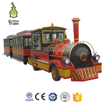Small amusement park miniature trains electrictrain with tracks for sale