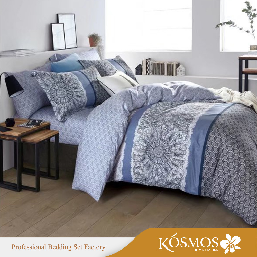 luxury high quality 100% cotton printed indian comforter sets