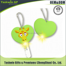 custom special animal shaped plastic key cover with led light for gifts and premiums