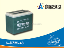 electric bicycle gel battery 12V 48AH