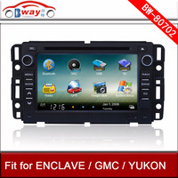 Bway car audio player for GMC YUKON ENCLAVE car dvd player with GPS,car Radio bluetooth,steering wheel