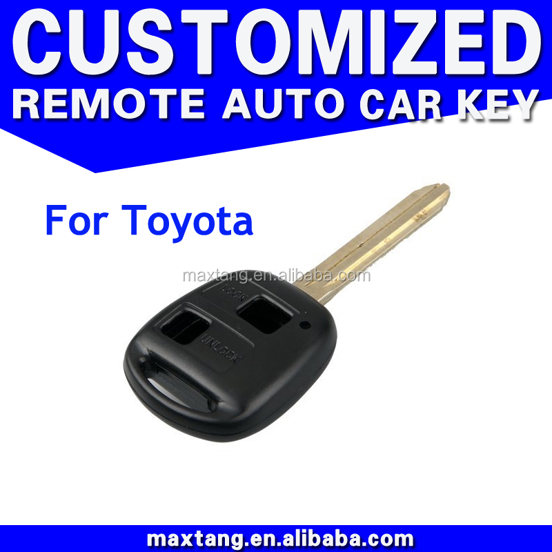 Shell Car Key Remote Shell 2 Buttons for Toyota Corolla RAV4 Celica