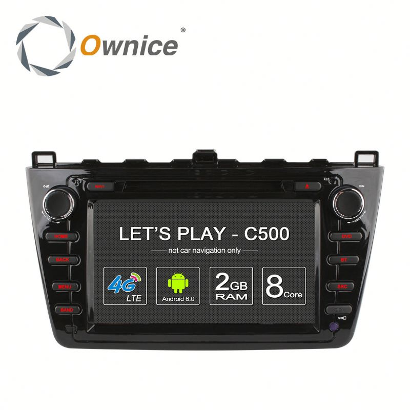 Ownice factory price Octa core Android 6.0 car DVD GPS for Mazda 6 2008 - 2012 with RDS support DSP dvr TV