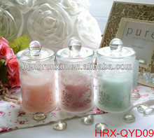 HRX-QYD09 Fashion Shape Scented Soy Wax Candles / glass candle on sale