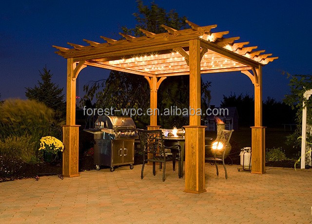 Gazebo telhado chin s e carrybag incluem hexagonal gazebo for Kiosco de madera para jardin