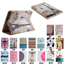 hot selling multi customed design leather case for iPad mini 1/2/3, creative leather cover for ipad mini 1 2 3 case