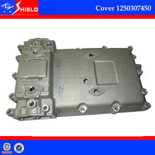 heavy duty truck spare parts aluminium gear box cover1250307450 (gearbox rear cover) for ZF gear box S6-90