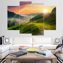 Stretched Modern Watercolor Beautiful Landscape Canvas Art Print Poster Nordic Wall Picture Home Decor Painting