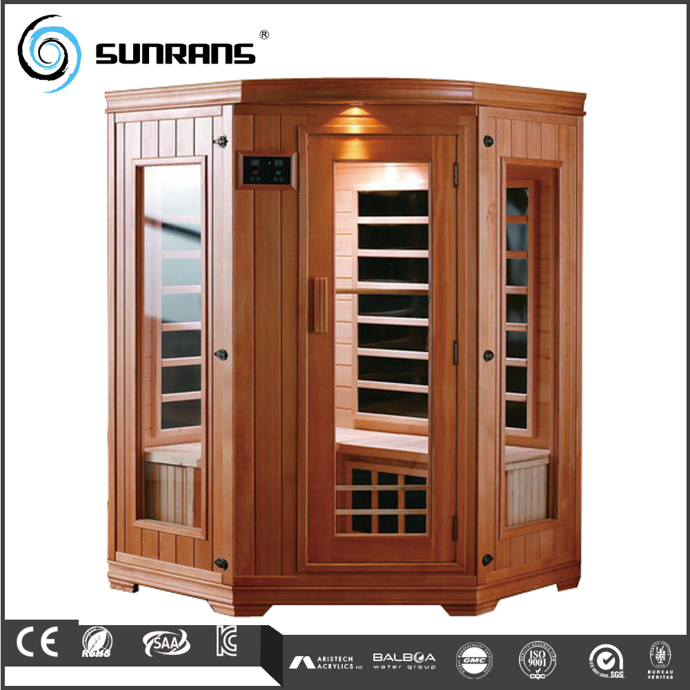 3 persons wood pallet portable folding family steam saunas