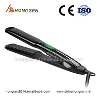 2016 New LCD digital display hair straightener wirh temperature control