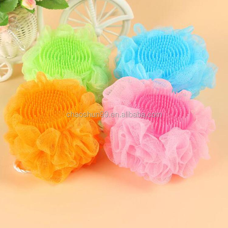 Silicone novelty shower bath sponge with round head