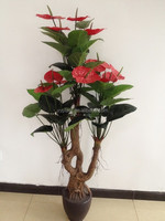 Wholesale real touch anthurium bonsai for sale artifical plant----1695