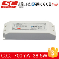 triac dimmable constant current led tube driver 750ma 38.5w IP20