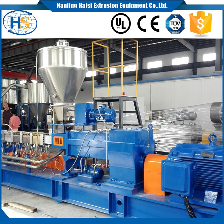 LDPE+CaCo3 twin screw extruder filler masterbatch production line