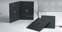 5.2mm Super Slim Double Disc Plastic Black Long DVD Case